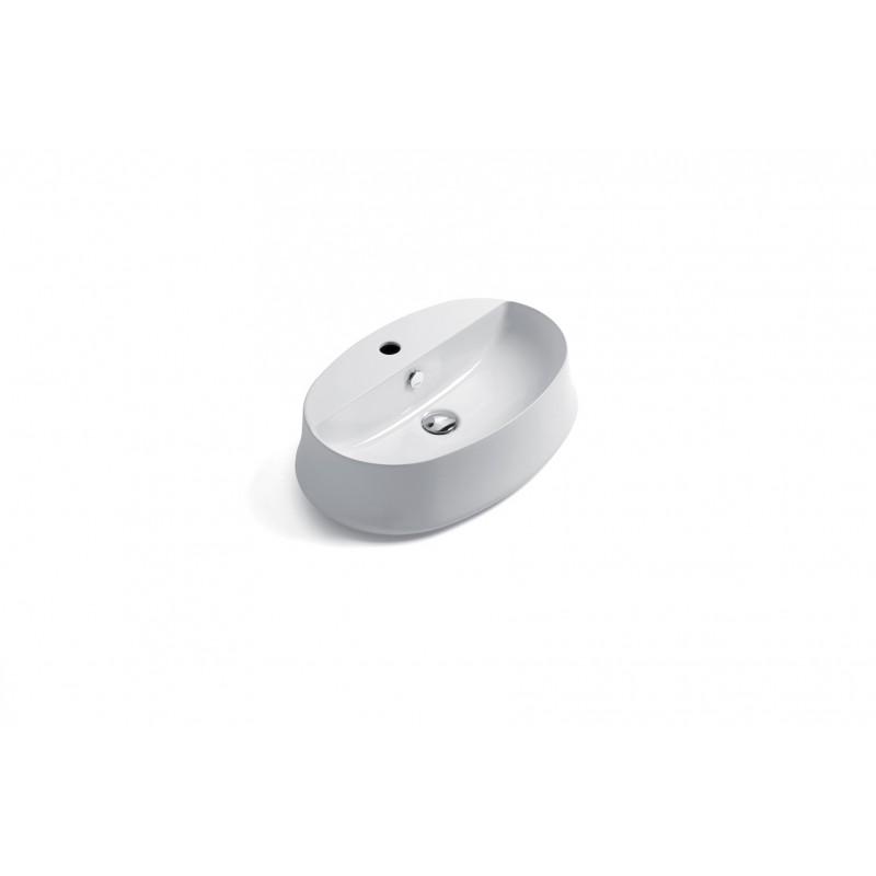 SHARP ovalt ovanpåliggande handfat 60 cm med kranhål