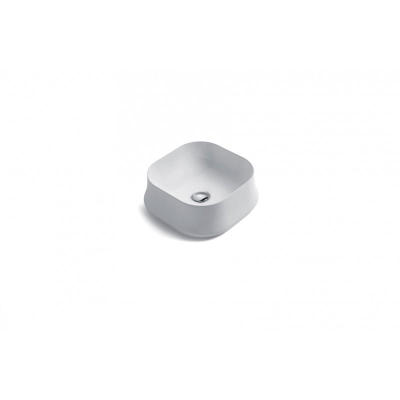 SHARP fyrkantigt ovanpåliggande handfat 42 cm